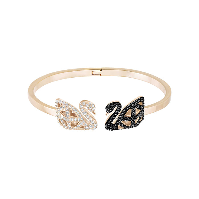 *당일발송*스와로브스키 [SWAROVSKI] 팔찌 FACET SWAN BANGLE, MULTI-COLORED, MIXED PLATING 5372919