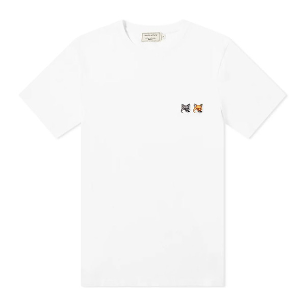 [MAISON KITSUN] 메종키츠네 TEE-SHIRT DOUBLE FOX HEAD PATCH BU00103KJ0008